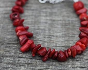3 Piece Coral Bracelet, ,  Bohemian Jewelry -Tribal jewelry Coral  Bracelet  Coral Jewelry Ethnic Tribal jewelry