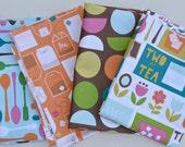 Scrap Fabric Pack -  Cream and Sugar - Ampersand Design Studios - Windham Fabrics - 4 Remnant Pieces- Set  Bundle