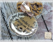 Hand stamped Hidden Message Locket - Miscarriage memorial jewelry - remembrance gift - necklace - customize it with names or phrase