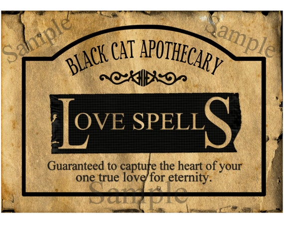 Black Cat Potion Label