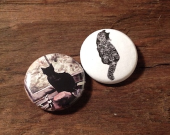 Kitty cat one inch button set