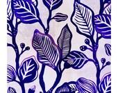 """A5 A4 Artprint """"Branchages (bleu)"""" (Motifs Emotifs serie) (limited edition)"""