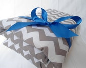 """Padded Baby Play Mat Pad Floor Blanket Chevron Boy Blue Tummy Time Newborn Gift Baby Shower Nap Personalize Custom 35"""" x 35"""" or 40"""" x 35"""""""