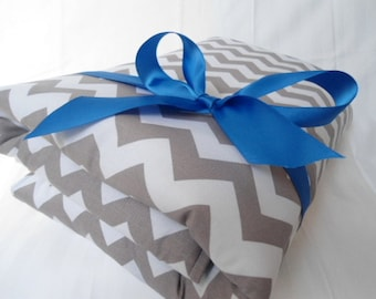 "Padded Baby Play Mat Pad Floor Blanket Chevron Boy Blue Tummy Time Newborn Gift Baby Shower Nap Personalize Custom 35"" x 35"" or 40"" x 35"""