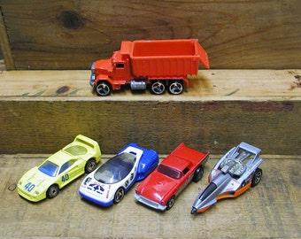 Hot Wheels Cars Set of 5 Dump Truck