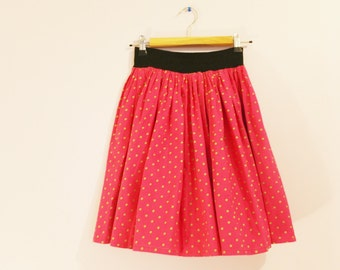 Vintage polka dots pink skirt