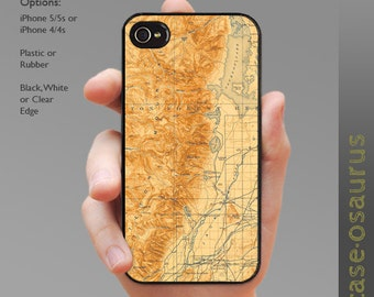 Vintage Grand Teton - Jackson Wyoming Map iPhone Case for iPhone 6, iPhone 5/5s, or iPhone 4/4s, Samsung Galaxy S6, S5, S4 and S3