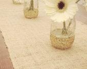 Gold glitter dipped mason jar - gold glitter wedding - shower - party decor - set of 2