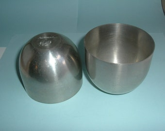 Pair of Pewter Jefferson Punch Cups