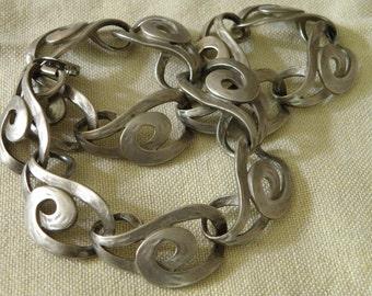 Vintage Swanky Erwin Pearl Silvertone Necklace - 16 inch