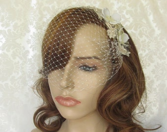 Lace Birdcage Veil / Vintage Inspired Veil / The Zoe Veil