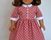 American Girl 18 Inch Doll Dress Historical 1950's era Molly Emily Kit Ruthie - Pink