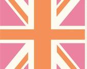 Union Jack Flag in Pink: Riley Blake Designers 1 Panel