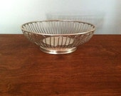 Vintage Silver Round Wire Bread and Fruit Basket