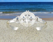 Sailors Compass Rose Convertible Bracelet - Sterling Silver with 14k Gold Accents- Cape Cod