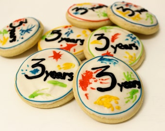 Art Party / Splatter Paint / Sugar Cookies with Buttercream Frosting