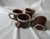 Vintage Mc Coy U S A  Coffee  Tea Cups Mugs   Retro Drip Ware Mugs