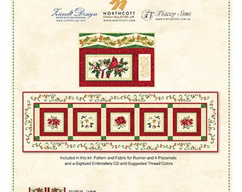 CHRISTMAS TRADITIONS:  Table Runner & Placemats Kit