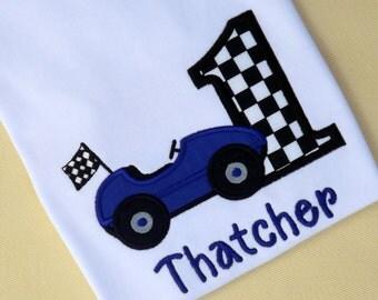 Race Car Birthday T-Shirt or Bodysuit