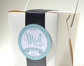 MINT TO BE Wedding Favor Tags Printable