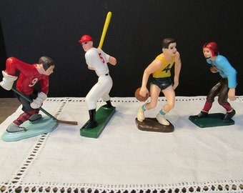 Wilton Cake Toppers Vintage Baseball Football Basketball Hockey Fisherman
