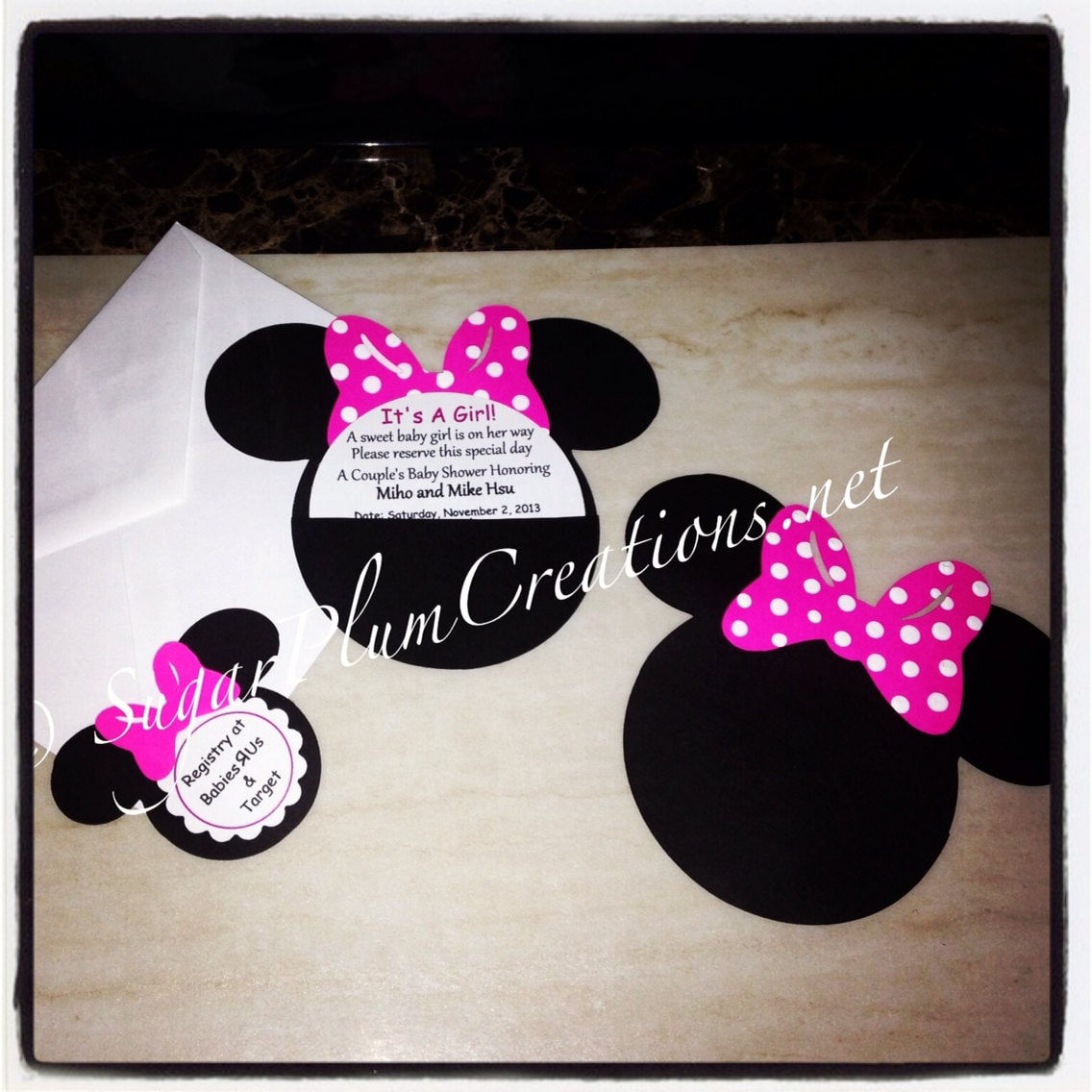 20 minnie mouse custom baby shower invitations item no