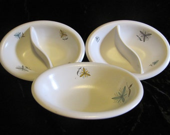 W.S. George Serving Bowls Today Pattern Atomic Flowers W.S.G