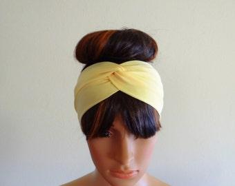 Yellow Headband. Yellow Head Wrap