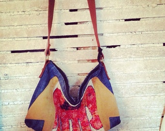 Handbags, Cross body Bag, Boho Bag, Bags and Purses, Bags, Boho Hippie Bag with Tan Suede Accents