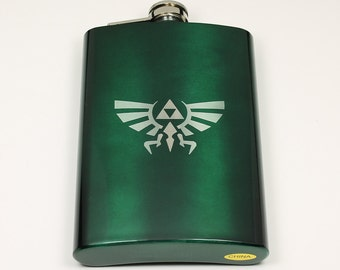 Legend of Zelda 8 oz Hylian Crest Flask
