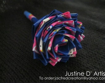 Blue Hello Kitty Duct Tape Rose Pen
