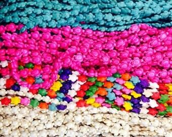 13x14mm howlite turtle beads. around 28 beads
