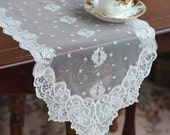 Wholesale Handmade Wedding Home Deco Tableware Table Doily Runner,Embroidery&Lace 30x70cm