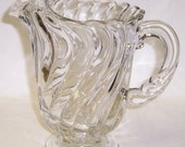 Fostoria Crystal COLONY Elegant Glass 48 Ounce 8 1/2 Inch High Water Pitcher with Ice Lip