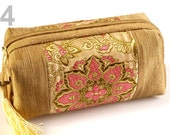 Cosmetic bag - Toiletry Bag - Cosmetics Bag - Make-up Bag - Pink & Gold