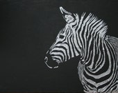 Zebra - original acrylic impasto painting on canvas - size 80 cm x 60 cm x 1,5 cm