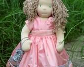 Gabrielle - waldorf inspired cloth doll 16 inch