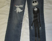 Custom ordered hand painted jeans