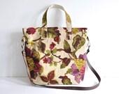 Handbag shoulder bag purse work bag designer fabric uk seller vintage print