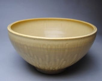Clay Bowl Serving Large Yellow T14