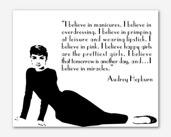 I believe in manicures - Audrey Hepburn. (With images ...  |Audrey Hepburn Quotes I Believe In Manicures