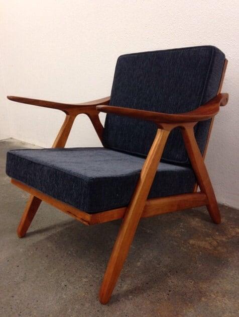 Danish mid century modern style teak lounge chair by nwfilm