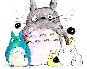 Poster Print My Neighbor Totoro, inkjet print art painting