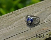 Vampire Diaries Inspired Caroline's Lapis Stone Fashion Ring Gift for Her