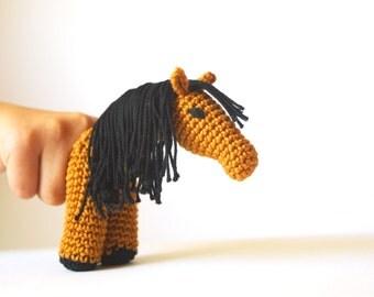 Crochet Horse Finger Puppet, PDF  Pattern, Realistic horse,  Instant Download