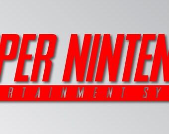 Super Nintendo Logo Decal, Sticker, Bumper Sticker, Vinyl Decal