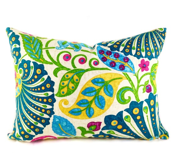 Ready Made Decorative Pillow Covers : SALE Lumbar Pillow Covers Decorative Pillows Teal Blue Pillow