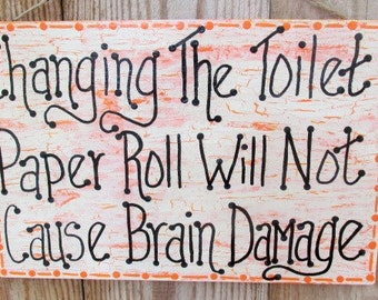 Large Funny Bathroom Toilet Paper Sign, Bathroom Decor, Funny Bathroom Sign, Bathroom Art
