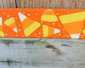 candy corn decorhalloween block wooden block fall home decor halloween shelf - Candy Corn Halloween Decorations