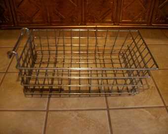 Vintage Small Industrail Metal Storage Basket